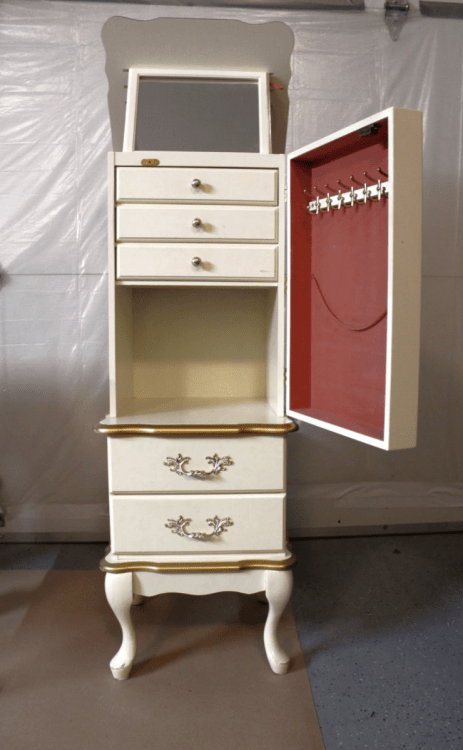 French Provincial Jewelry Armoire, Used Jewelry Armoire