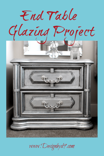 This is my ugly step sisters end table furniture makeover. Sometimes you can take the ugliest piece of furniture and give it a makeover and a second life. #uglystepsisters