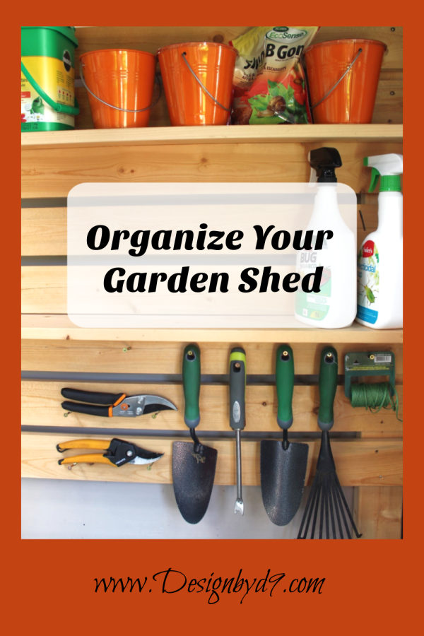 If you are getting ready to put in a garden shed or organize your existing shed, then I would love to share my garden shed organization ideas with you! I have a space for my garden tools, yard tools, bin storage shelves and hanging storage.