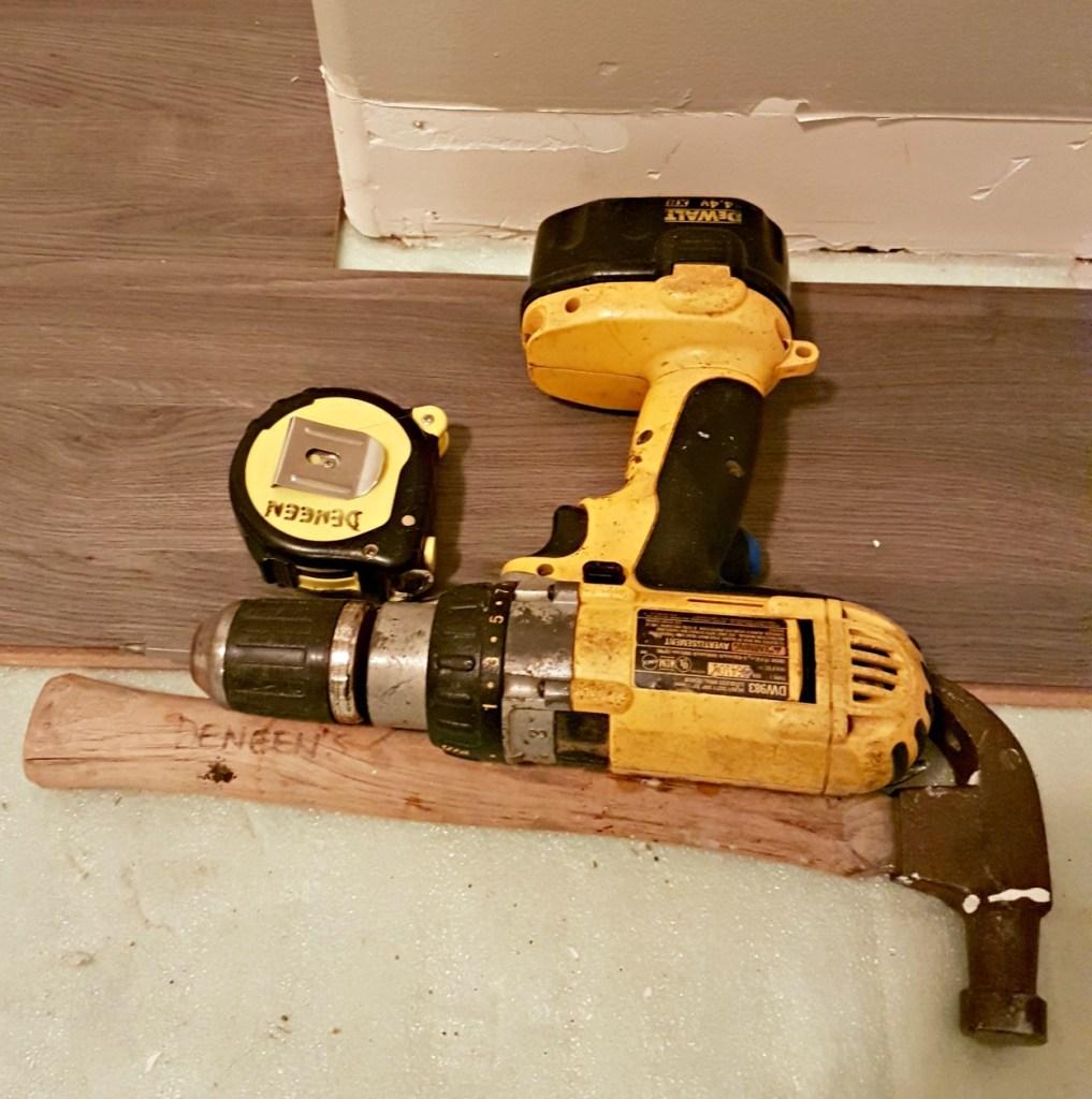 tools, Greg's condo, renovating, re-sale, DIY