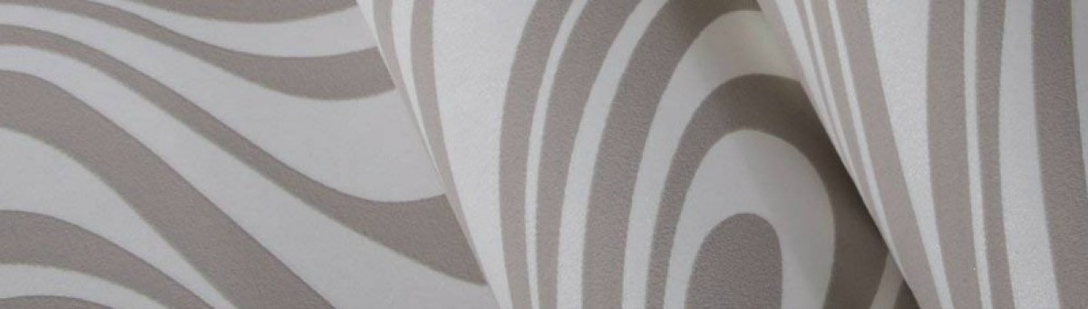 QIHANG Modern Luxury Abstract Curve 3d Wallpaper Roll Flocking for Striped Cream-white&silver Color