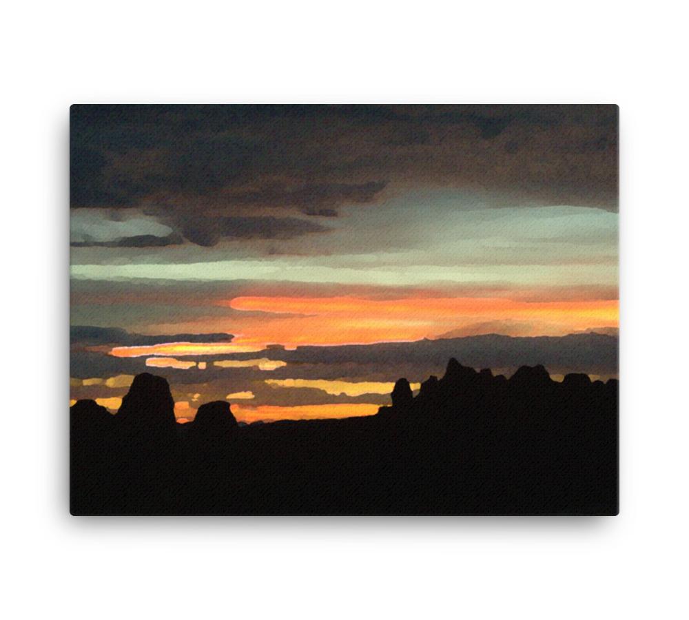 Utah Skyline Canvas