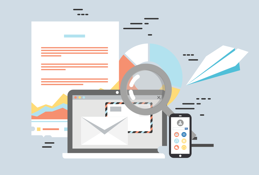 email and phone illustration
