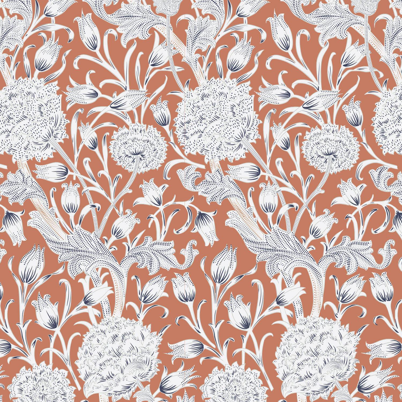 Vintage Floral Wallpaper Online India Design By Metamorph