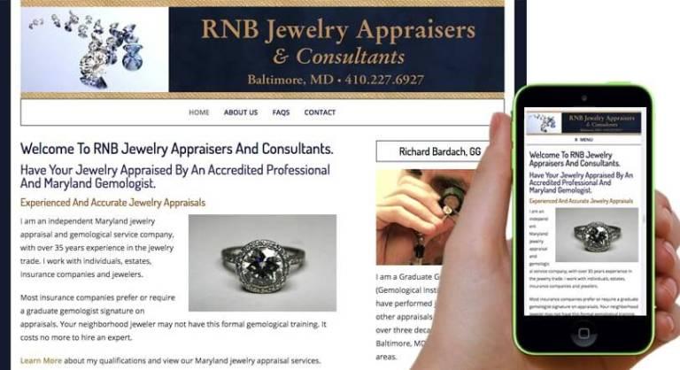 jewelry company website design