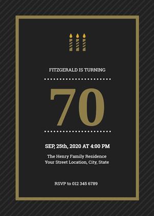 free 70th birthday invitation maker