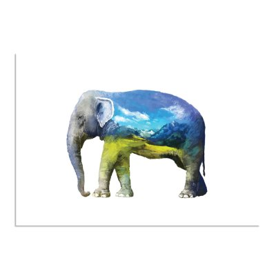 waterverf-olifant-a3-2-landschap