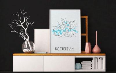 Nieuwe steden posters in de shop