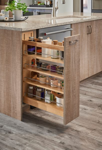 pull out spice rack kitchen cabinet