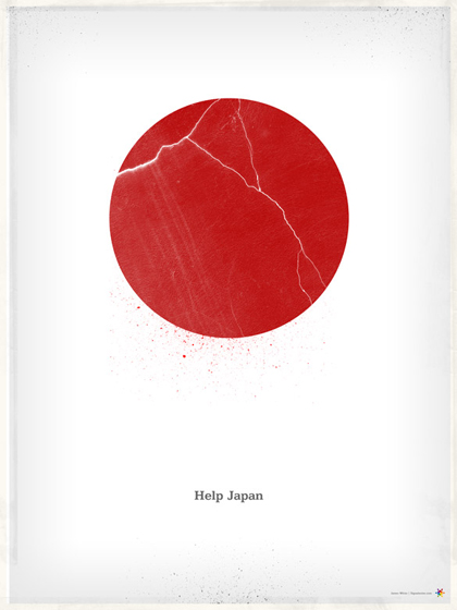 Help Japan print by James White