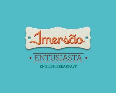 """O chá diurno. O nome da mistura complementa o nome de marca. """"Imersão entusiasta"""""""