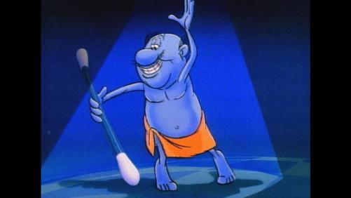 Animação - Homenzinho Azul Cotonete