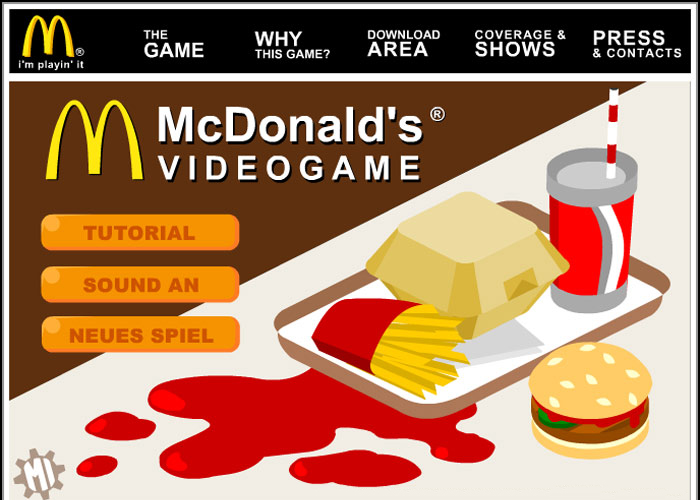 Mc Donalds Advergame
