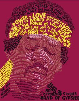 Hendrix Typographical Portrait