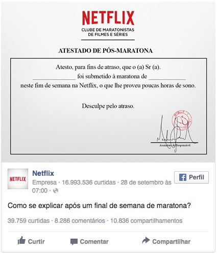Atestado Netflix