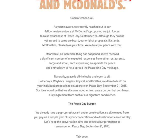 Burger King open letter