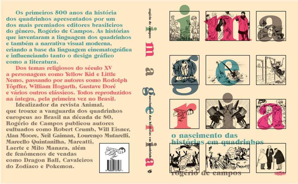 """Capa do livro """"Imageria – O Nascimento das Histórias em Quadrinhos""""."""