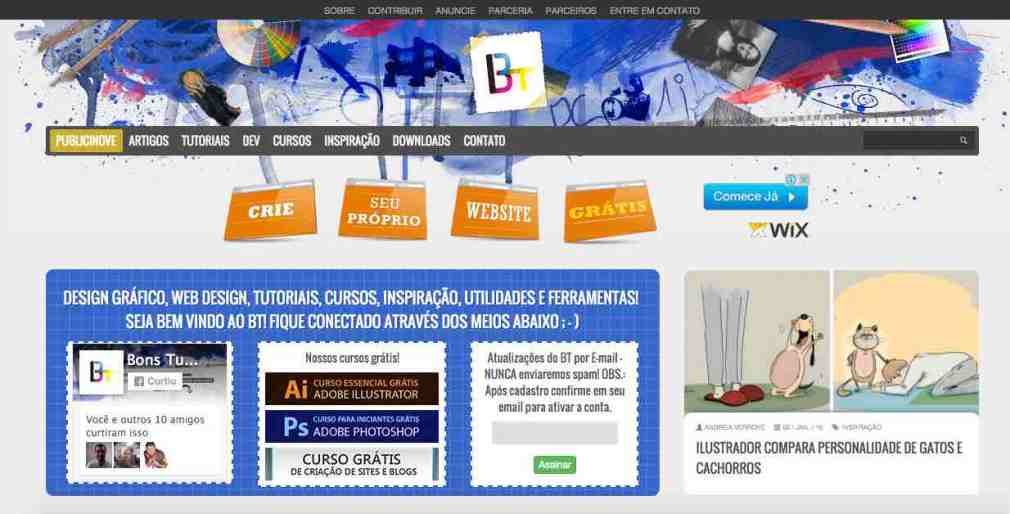 Home do blog Bons Tutoriais
