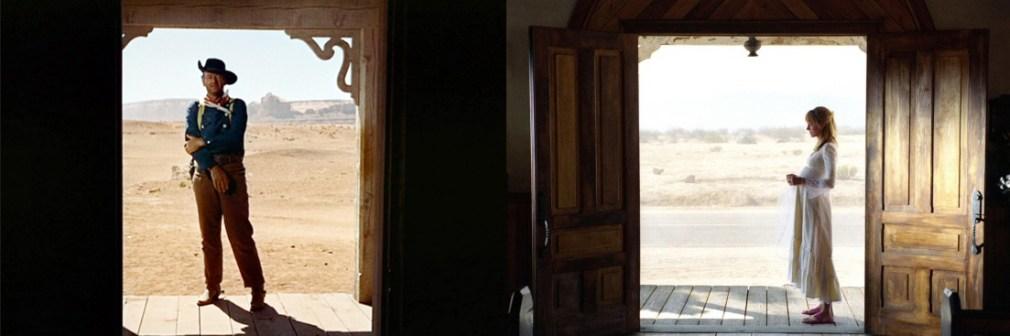Comparação entre fotografias de Rastros de ódio e Kill Bill