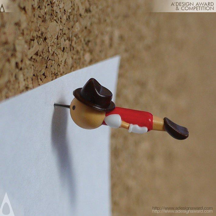 "Alfinete de mural ""Real Boy"", por Duncan Shotton - ganhador Platinum 2012."