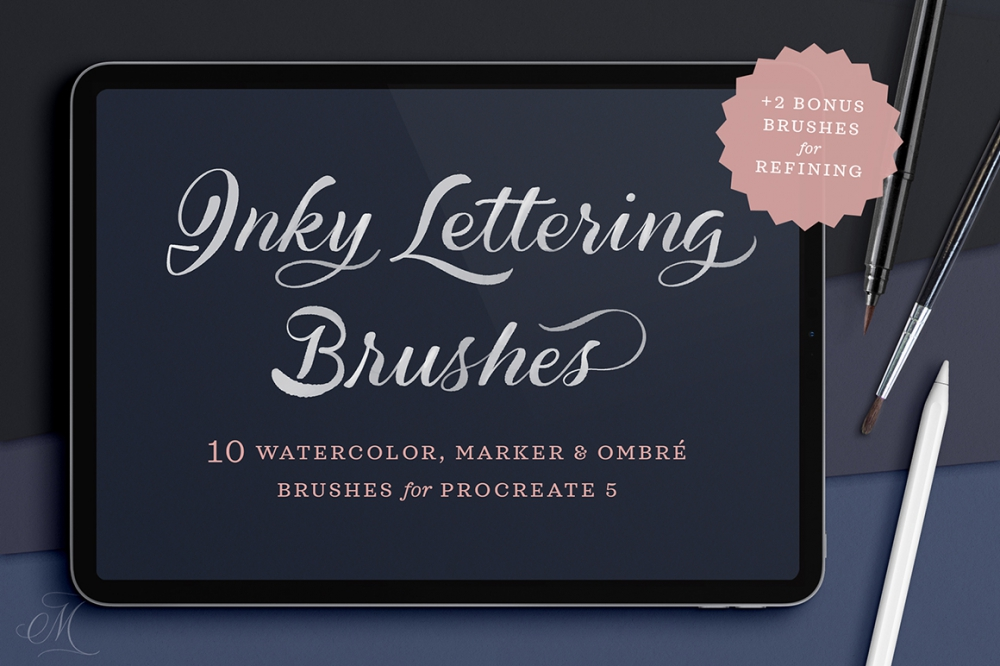 Download Inky Lettering Procreate Brush Pack - Design Cuts