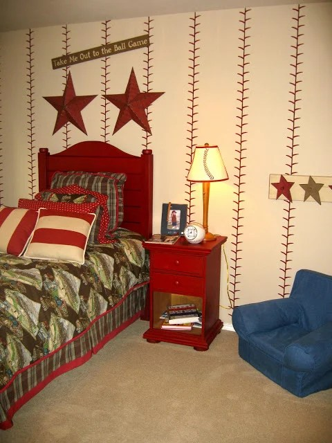 Baseball Decorations For Bedroom Images