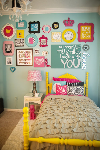 Touch of Sunshine Girls Room by Ginny Phillips! LOVE the colors that bring so much personality into a room!
