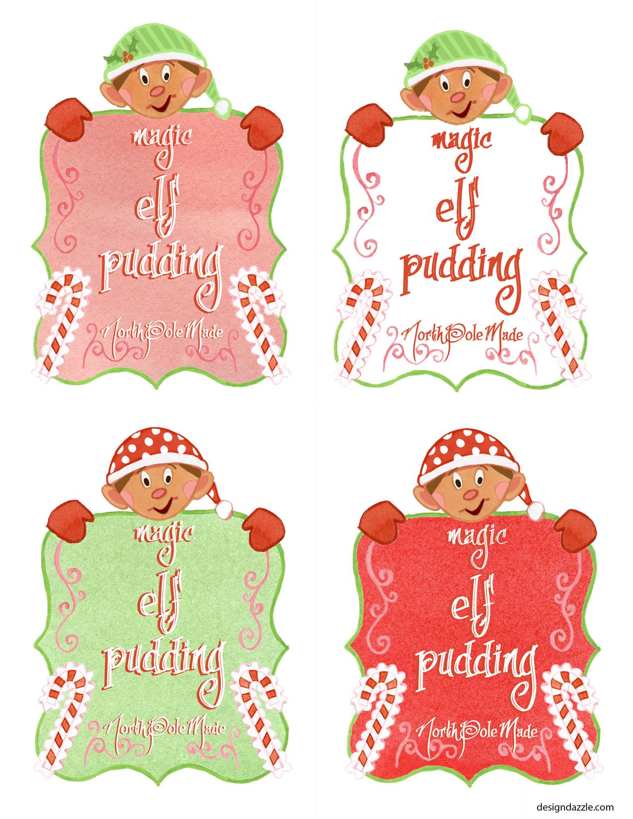 Magic Elf Pudding Free Printable