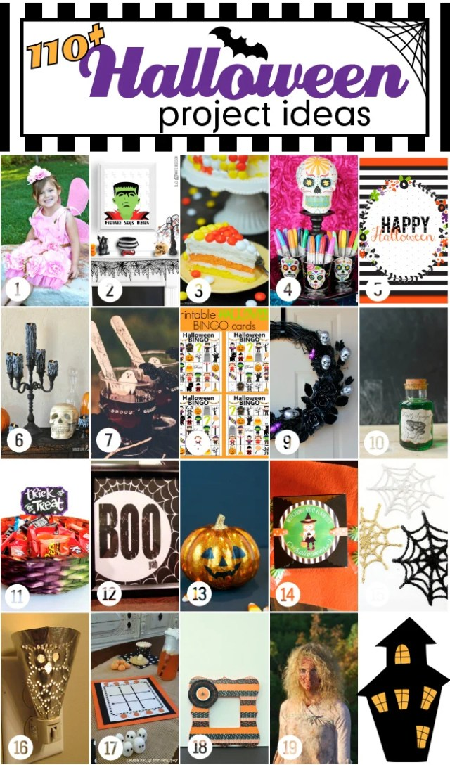Over 100 Halloween ideas to help you celebrate Halloween with style! #halloweenprojects #halloweenbloghop