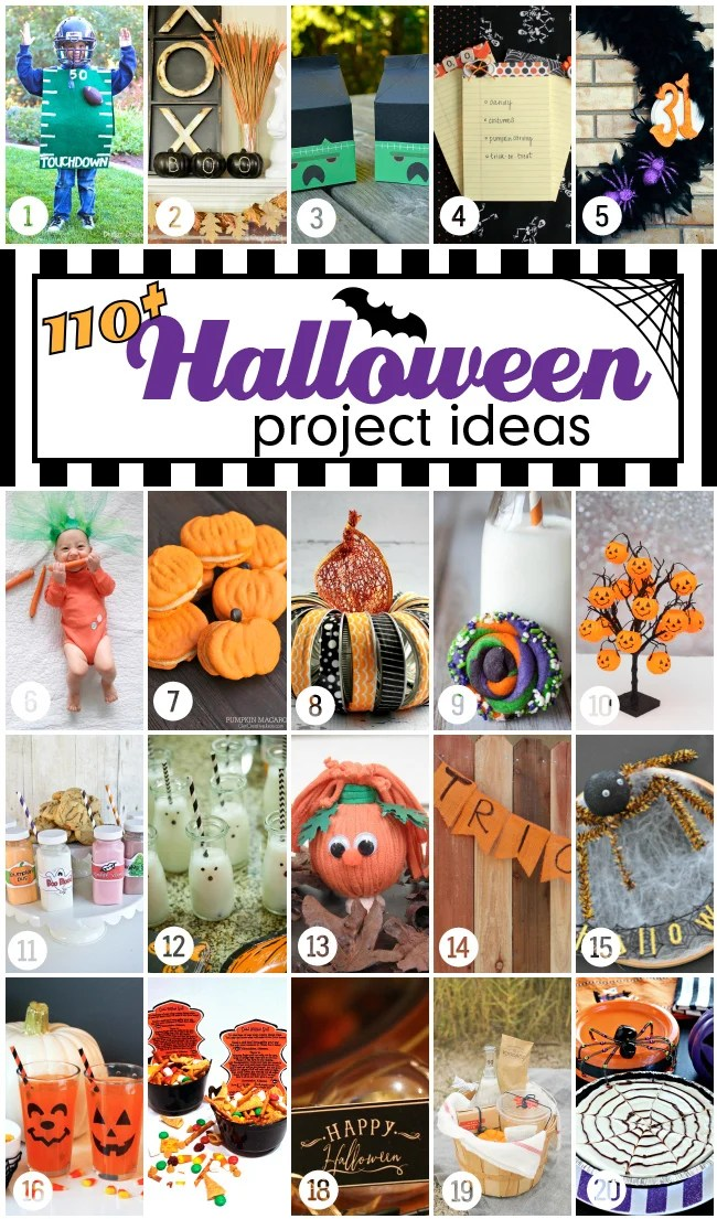 110+ fun and fabulous Halloween projects and ideas. #halloweenprojects #halloween