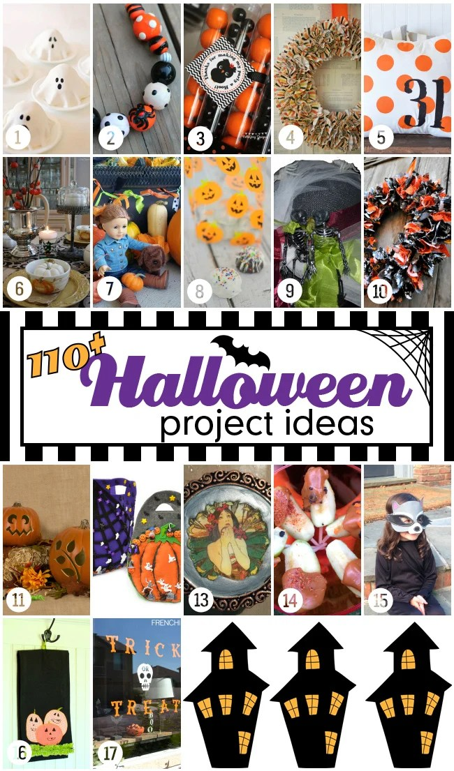 Over 110 creative Halloween projects and ideas for Halloween fun. #halloweenprojects #halloween #diyhalloweenideas