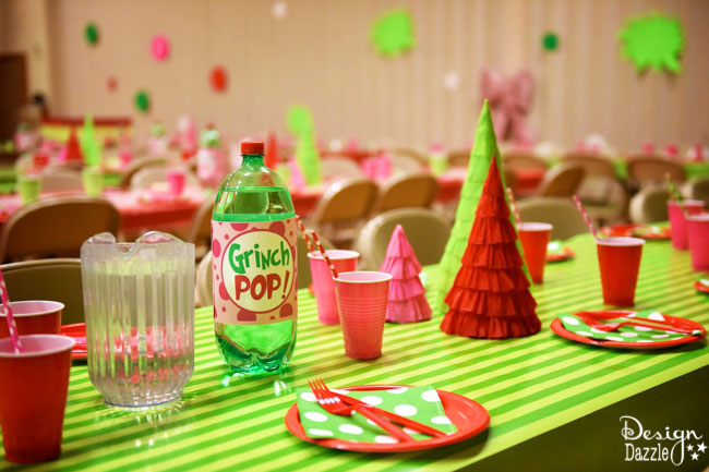 Grinch Paper Plates