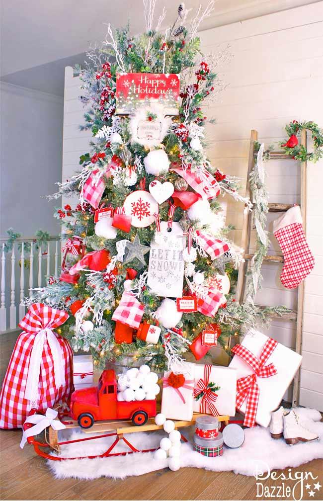 Mrs Claus Cottage Christmas Tree Design Dazzle