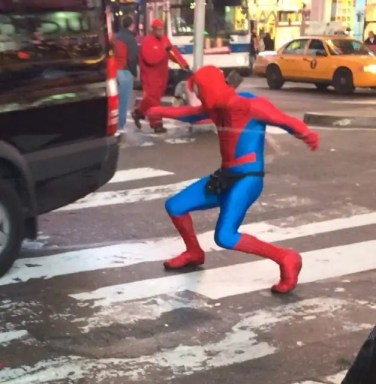 Spider Man in Times Square