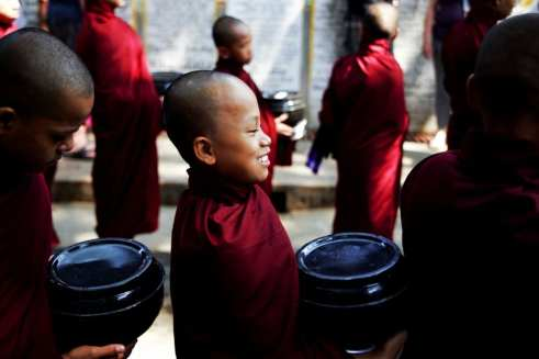 Collecting Alms in Burma