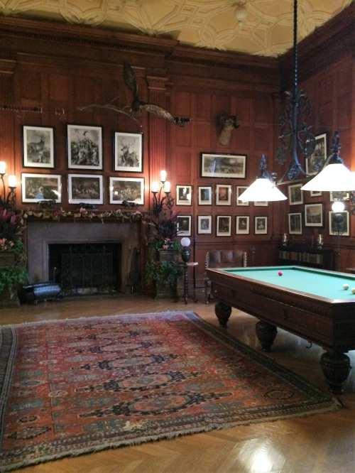 billiard room at the Biltmore, Vanderbilt Estate
