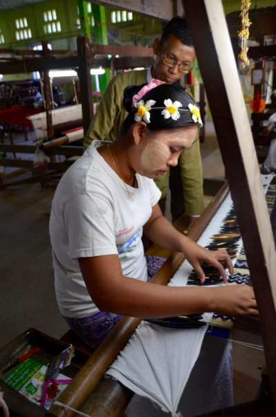 Weaving in Myanmar