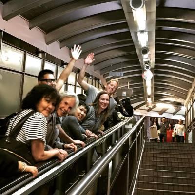 On the long escalator in Hong Kong