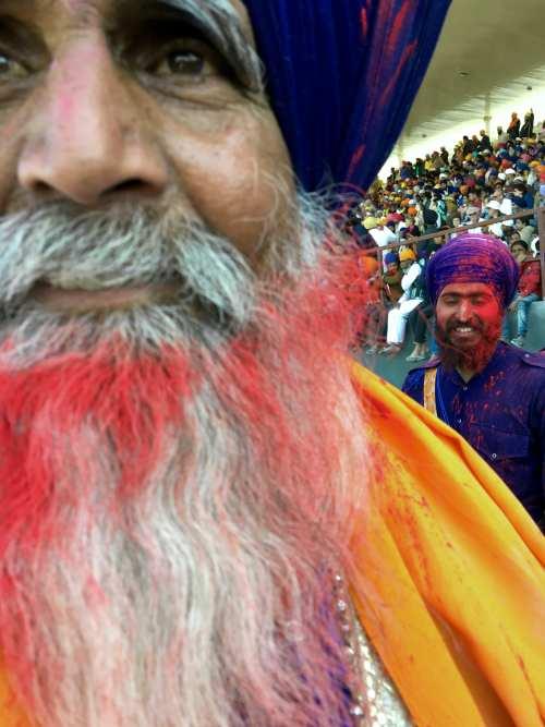Celebrating Holi at Hola Mahalla