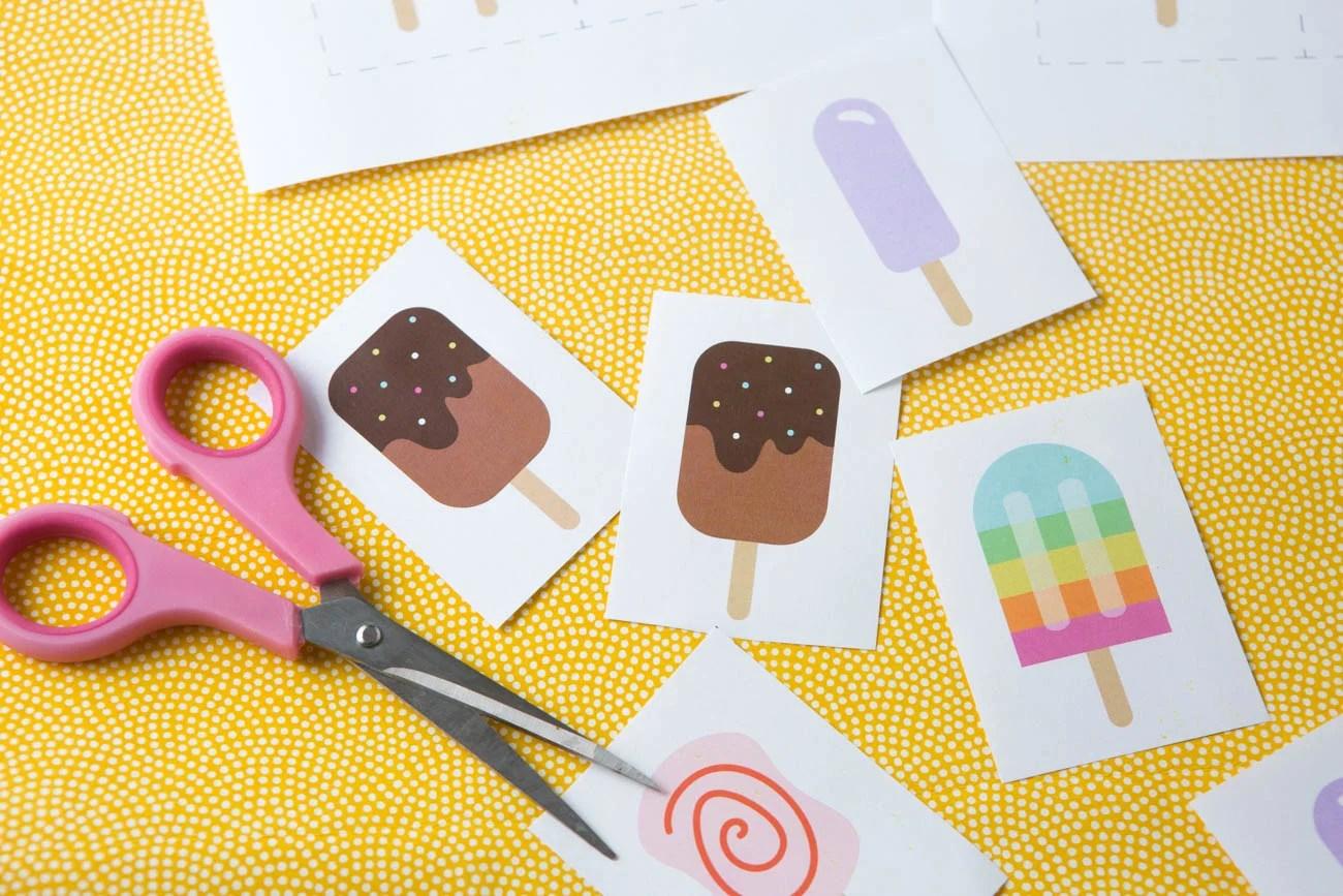 Popsicle Printable Memory Game