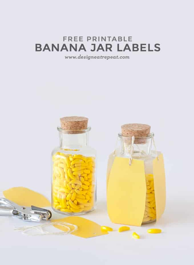 Banana Printable Candy Jar Labels by Design Eat Repeat
