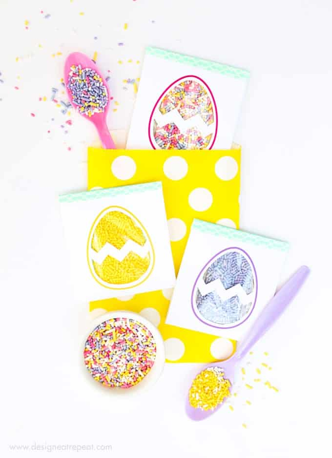 Easter Egg Printable Sprinkle Party Favors!
