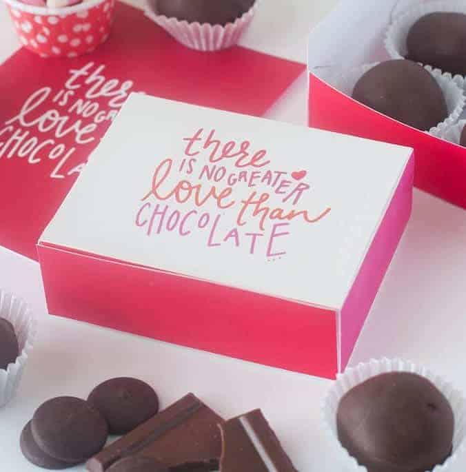 Free Printable DIY Chocolate Box | Design Eat Repeat