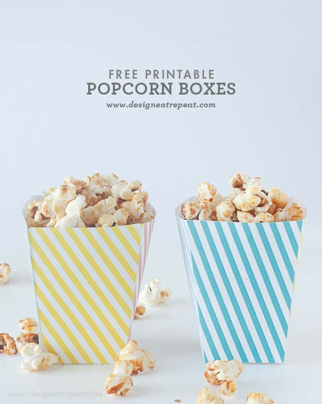 Sweet image in popcorn box printable