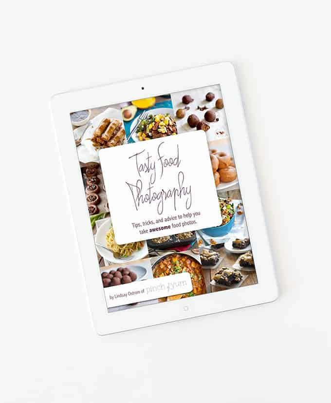 Great E-Book to help learn food photography! Melissa from the blog, Design Eat Repeat shares her Top 5 Blog Photography Tips & Tools in this blog post. She talks about everything from cameras, backdrops, and editing software. Very helpful!