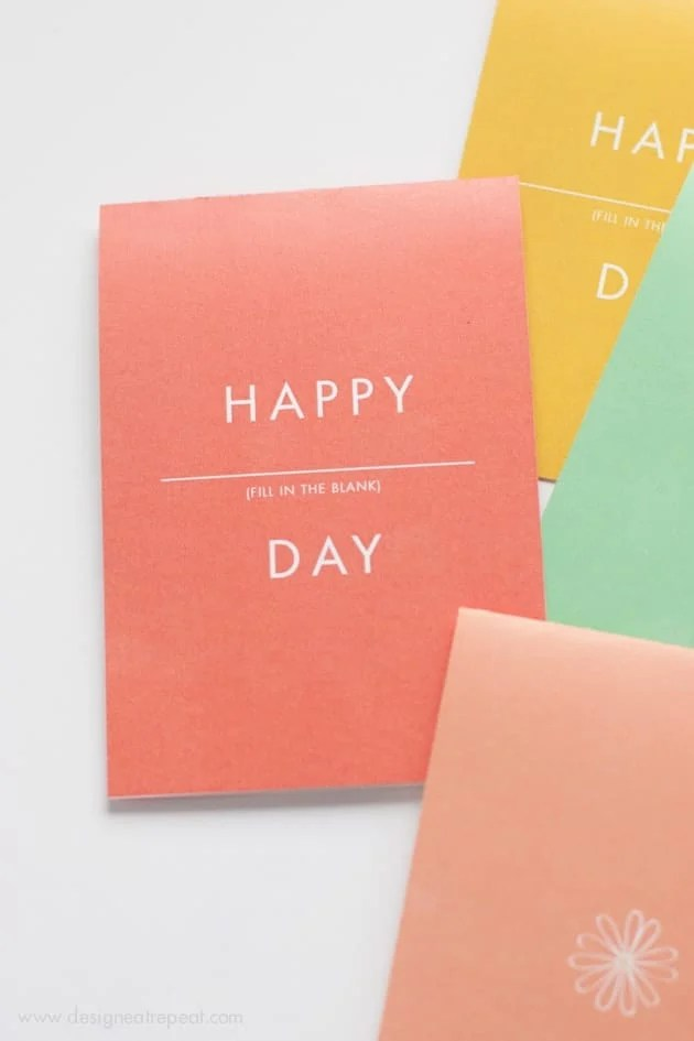 Happy Anything Card - A Free Printable that can be used for Birthdays, Mothers Day, and more!
