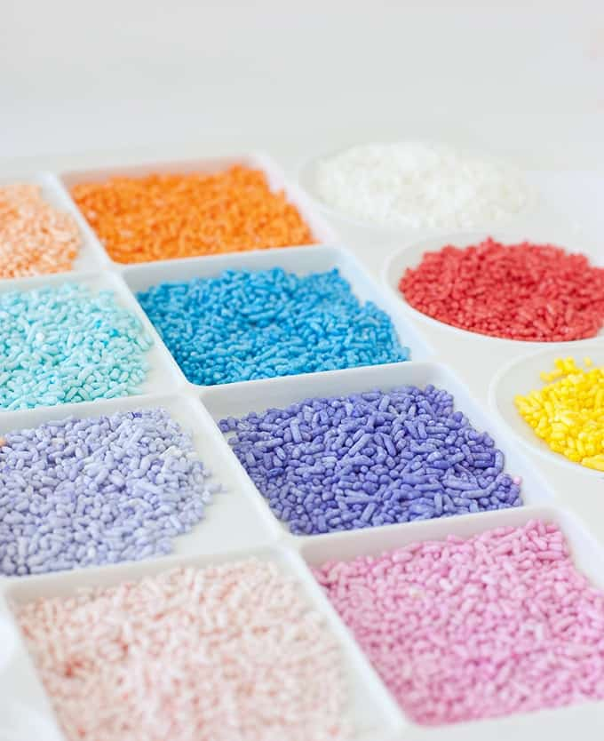 How to Dye Your Own Sprinkles - Perfect for creating custom colors!