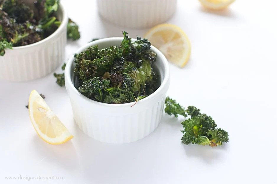 Lemon & Garlic Kale Chips
