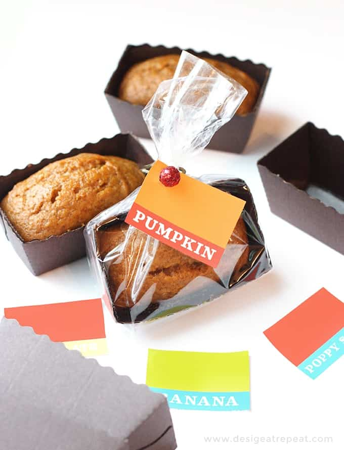 Mini Pumpkin Bread Loaf Tags
