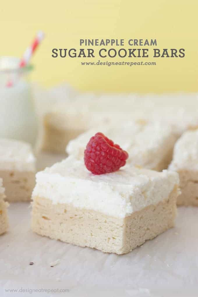 Pineapple Creme Sugar Cookie Bars